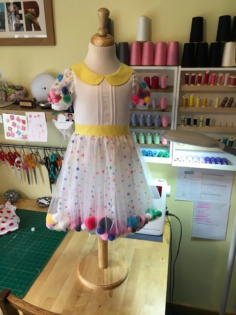 Pom Pom Dress, Tulle, America, Minnie Mouse,